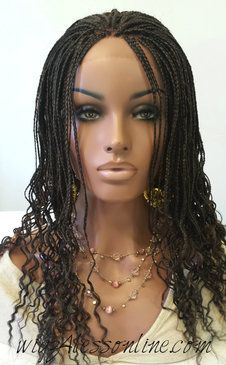 Fully Handbraided Lace Front Wig- Color Ombre1B33/30/27- (Sold)
