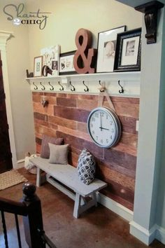 I could make a mantle in the entryway!