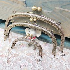 3 size choose Retro gorgeous carving antique brass purse frame bag frame coin purse frame handmade supplies 1pcs