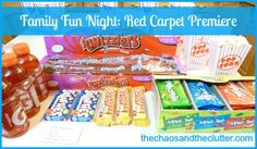 Red Carpet Premiere Family Fun (would also work for kids party or teen activity)  The Chaos and the Clutter Blog