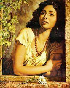 jesus helguera art | Tema da Pintura: Diante de cada janela… | Artes & Humor de Mulher