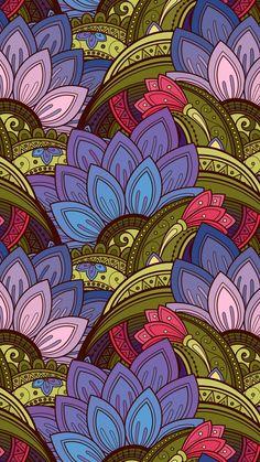 Flower Wallpaper, Cool Wallpaper, Mobile Wallpaper, Wallpaper Backgrounds, Iphone Wallpaper, Cellphone Wallpaper, Bts Wallpaper, Flower Pattern Drawing, Motif Vintage
