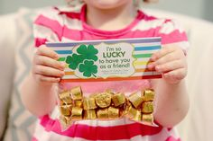St. Patrick's Day Treat Bag Tag Printables- The Tag is the rainbow..fill with the treasure! I used rolos and hershey nuggets. :)