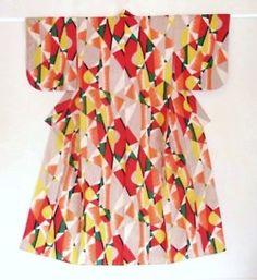 Abstract red kimono fabric pattern ~AmyLH~ possibly Haruko Wanatabe