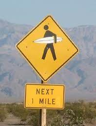 #surfer crossing