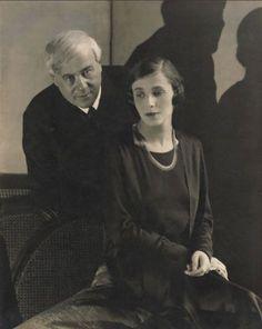 Edward Steichen: Molnár Ferenc (Franz Molnar) és Darvas Lili, 1928