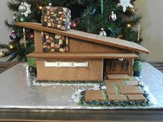 I wanted to do something challenging this holiday season, and boy did I find the project! I was inspired to create my own gingerbread drea. Gingerbread House Template, Gingerbread House Designs, Christmas Gingerbread House, Gingerbread Houses, Christmas Houses, Putz Houses, Modern Christmas, Retro Christmas, Christmas Holidays