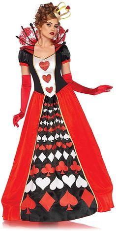 Costume Deluxe de la Reine des Coeurs