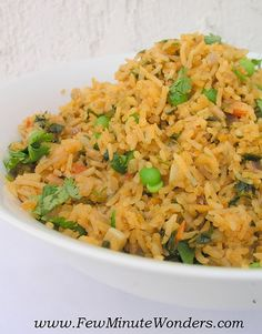 Chimichurri Rice - 5 Minute wonders take on Trader Joe's Peruvian chimichurri rice.  Similar recipe sarestaurantrevie...