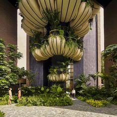Image 12 of 17 from gallery of EDEN Singapore Apartments / Heatherwick Studio. Photograph by Hufton+Crow Thomas Heatherwick, Polished Concrete, Concrete Pots, Photo Studio, Architecture Design, Green Architecture, Architecture Interiors, Greenery, Gardens