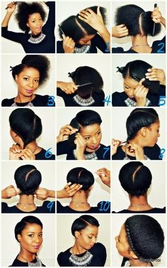 Simple protective style for relaxed, natural or transitioning hair. :-)