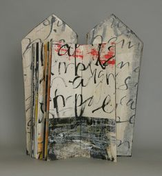 Art lit IV by Laura Wait, house shape Collages, Altered Books, Altered Art, Books Art, Art Postal, Etching Prints, Book Sculpture, Paper Sculptures, Sumi Ink