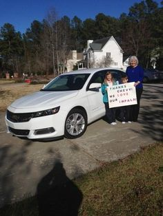Alane welcomed a new member to her family, a #Chevrolet #Impala!
