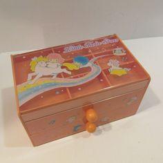 1990 Vintage Sanrio Little Twin Stars Jewelry Box Chest Trinket Kiki Lala