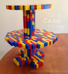 Mommy on the Money: LEGO Cake Plate and Other Ideas for the LEGO DUPLO House Party