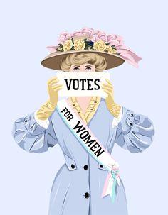 Ana Hard-Votes for women Feminist Art, Feminist Quotes, Something Blue, Girls Be Like, Powerful Women, Women Empowerment, Girl Power, Illustration Art, Graphic Illustrations