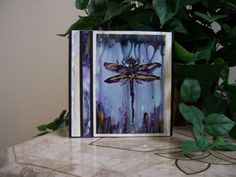 dragonfly mixed media art, collage, paint and paper, home decor, small work of art Alcohol Ink Painting, Alcohol Inks, Mixed Media Art, Collage Art, Ink Paintings, Candles, Paper, Unique Jewelry, Handmade Gifts