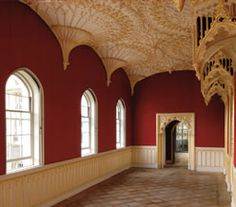 Gallery, Strawberry Hill, Twickenham - Horace Walpole - has many beautiful ceilings Georgian Architecture, Space Architecture, Architecture Details, Gothic Castle, Gothic House, Victorian Gothic, Strawberry Hill House, Hill Interiors, English Style