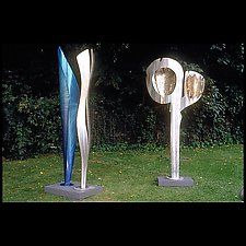 "Wave Sheer and Moon Windows by Molly Mason (Metal Sculptures) (90"" x 48"")"