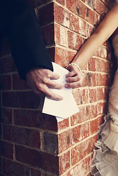 pre wedding exchanging letters. this is precious but i probably would cry so much and ruin all my makeup if i did this.