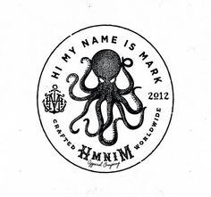 Hi My Name is Mark Octopus Logo of the Month on Logoholic