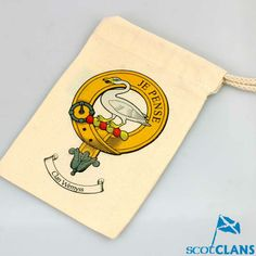 Small Clan Crest Drawstring Bag