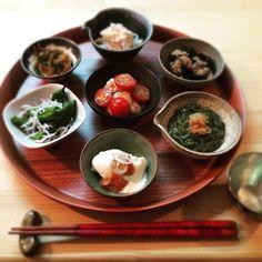 日本酒とおつまみ7種