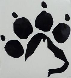 German Shepherd Dog Paw Print Car Truck Window Vinyl Decal Sticker Choose Color #VinylDecalSticker