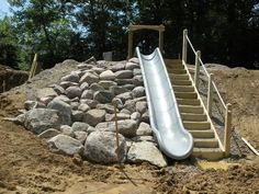 Another awesome hill slide with rock climbing by the Natural Playgrounds Company