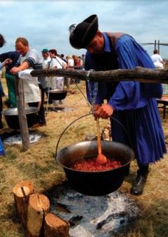 "Hungarian Herdsman called ""Gulyas"" is cooking Hungarian Goulash  -  http://besthungarianrecipes.sharepoint.com"
