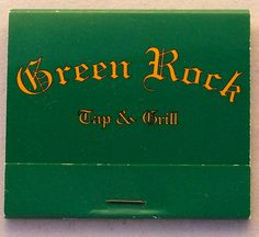 Green Rock #matchbook - To order your Business' own Branded #matchbooks or #matchboxes GoTo: www.GetMatches.com or CALL 800.605.7331 TODAY! If you're a match collector/lover Check Out: kingmatch.wordpress.com