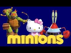 Minions Box full opening SpongeBob Ninja Turtles Hello Kitty blind bags ...