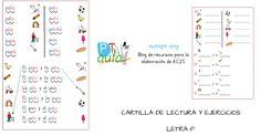 CARTILLA DE LECTURA Y ESCRITURA - FONEMA P-