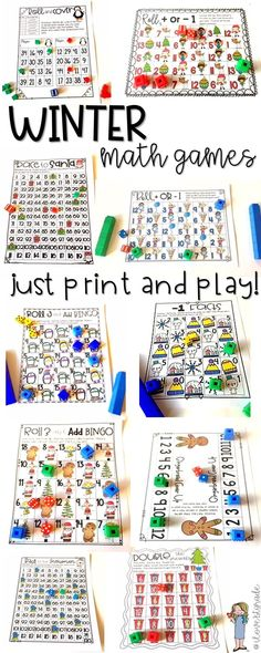 20 fun and engaging winter math games designed to keep your students on task during the crazy holiday season. Just print and play! #teachingkidsmath