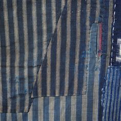 Antique Japanese Boro Indigo Cotton Futon Cover