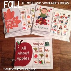 Interactive Vocab Books: All About Me & Fall from Speech Room News