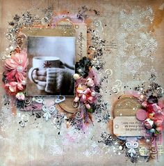 Layout made with the beautiful Soulmates collection. #layout #mixed-media…