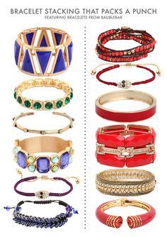 bracelet stacks that pack a punch / color me caitie