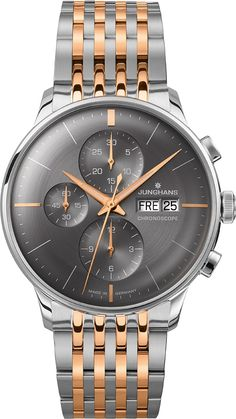 Are you interested in watches made-in-Germany? Het it here and let myGermany ship it to you: Junghans Meister Chronoscope 027452744 Herrenchronograph