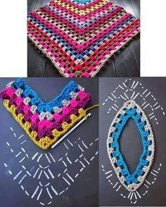 Captivating Crochet a Bodycon Dress Top Ideas. Dazzling Crochet a Bodycon Dress Top Ideas. Crochet Shawl Diagram, Crochet Poncho Patterns, Crochet Chart, Knitting Patterns Free, Baby Knitting, Free Crochet, Crochet Top, Gilet Crochet, Crochet Blouse