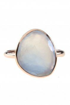 this #ring features a beautiful faceted #blue #chalcedony I NEWONE-SHOP.COM