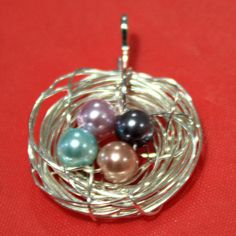 Bird's Nest Necklace. Easy and affordable - one of our best, most popular MOPS crafts.