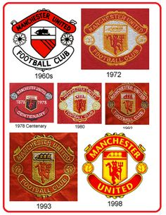 Manchester United crests over the years.....