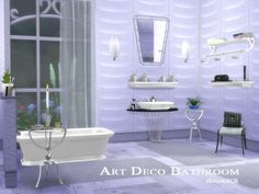 The Sims Resource: Art Deco Bathroom by ShinoKCR • Sims 4 Downloads