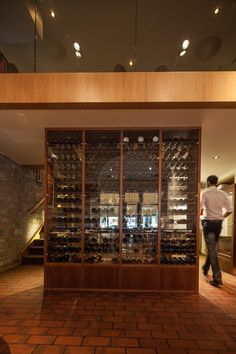 Basic Collection, Casabrasil Budapest #restaurant #furniture #design #interior #contract #casabrasil #budapest #cupboard #wood #wine photo: Zsolt Batár