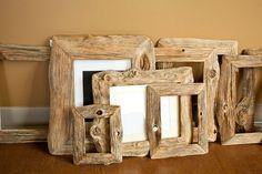Reclaimed wood mirrors....or photo frames