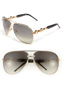 Gucci 'Marina Chain' 63mm Aviator Sunglasses available at #Nordstrom