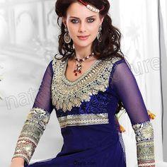 Z Fashion Trend: BEAUTIFUL ROYAL BLUE PARTY WEAR ANARKALI