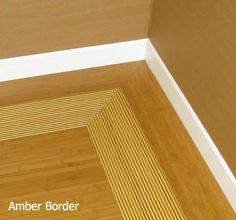 Bamboo Floor by Green Wood - Amber Border