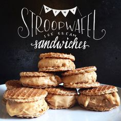 Mini Stroopwafel Ice Cream Sandwiches